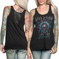 Affliction AC Pow Wow Juniors Tank - Black