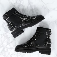 THE KOOPLES | Studded Lace Up Boots