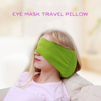 Travel Cushion Eye Mask Pillow Portable Airplane Or Car Head Neck Support Eye Mask Pillow Soft Foam Particles Neck Nap Pillow