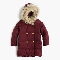crewcuts Girls Double-Breasted Long Puffer Coat