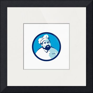 """Baker Chef Cook Bearded Circle Retro"" by Aloysius Patrimonio"