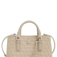 Tory Burch 'Robinson - Micro' Perforated Leather Double Zip Tote
