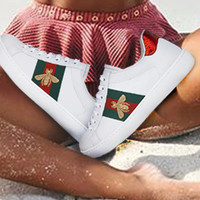 Gucci Old Skool Classic Fashion Bee Flower Embroidery Sneakers Sport Shoes
