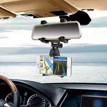 Cool Eye Level GPS and Smartphone Rear View Mirror Mount