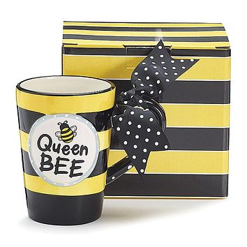 Queen Bee Ceramic Mug with Gift Box
