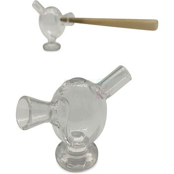Mini Glass Cigar Holder Bubbler