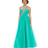 Masquerade One-Shoulder Beaded Ball Gown | Dillard's Mobile
