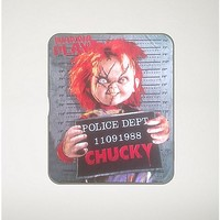 Mug Shot Wanna Play Chucky Fleece Blanket - Spencer's