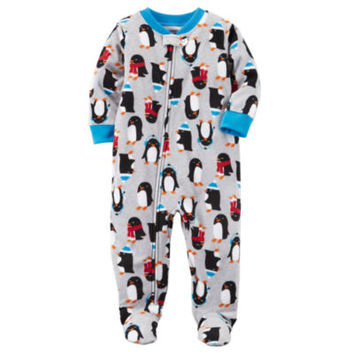 Carter's Long Sleeve One Piece Pajama-Baby Boys - JCPenney