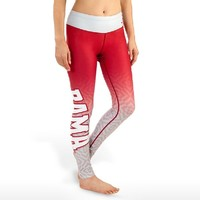 KLEW NCAA Alabama Crimson Tide Women's Gradient Print Leggings, Red, Large
