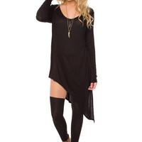 Jaslene Tunic Dress - Black