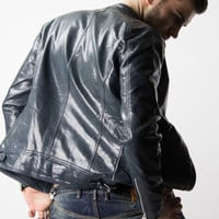 Shiny leather jacket by Glimms - DIFFERIO