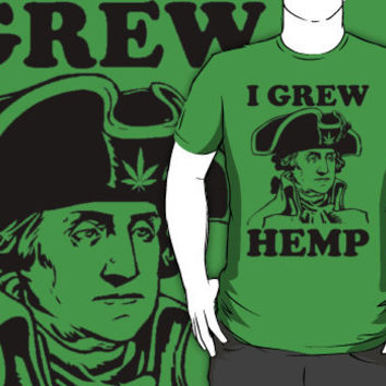 george washington grew hemp shirt
