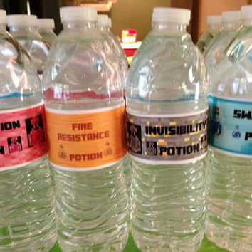 Minecraft Party Potion DIY PDF Drink Labels