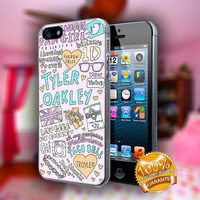 Tyler Oakley Collage Art - Print on hard plastic case for iPhone case. Select an option