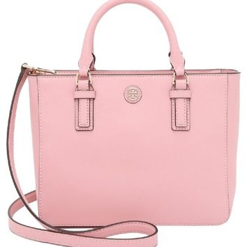 Tory Burch New Robinson Square Pink Tote Bag 22% off retail