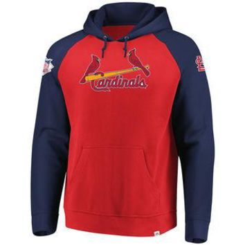 St Louis Cardinals Majestic MLB Red/blue Attitude Pullover Hoodie