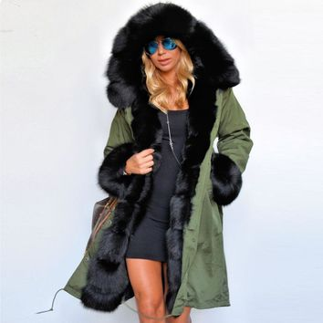 Luxury Winter Faux Fur Coat