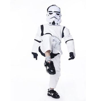 DCCKH6B Boy Deluxe Star Wars The Force Awakens Storm Troopers Cosplay Fancy Dress Kids Halloween Carnival Party Costume