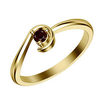 0.51 Ctw red Round Gemstone sterling silver wedding Ring For Her with free ship