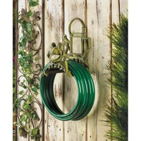 Cast Iron Green Frog Garden Water Hose Holder