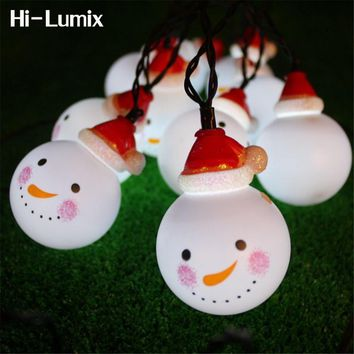 Hi-Lumix 3.5M 5M 6.5M Solar powered led string light Snowman Waterproof decoration Outdoor/Indoor for Christmas tree,Party,Patio