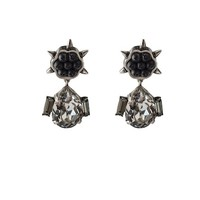 Sima Drop Earrings - Silver