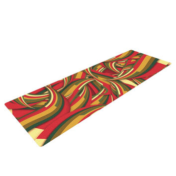"Danny Ivan ""Excited Christmas"" Red Orange Yoga Mat"