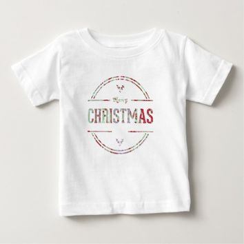 Merry Christmas Greeting Baby T-Shirt