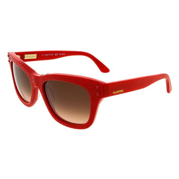 Valentino Rouge Rectangle Sunglasses