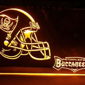 b-233 Tampa Bay Buccaneers Helmet 2 size beer bar pub club 3d signs LED Neon Light Sign man cave
