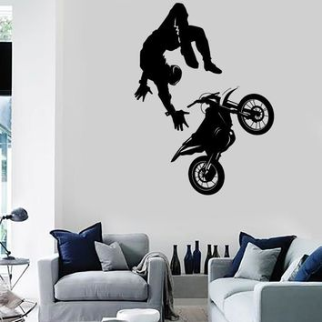 Wall Stickers Vinyl Decal Sport Bike Motocross Decor Extreme Speed Decor Unique Gift (z2289)