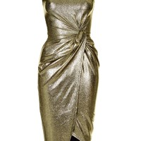 **Metallic Knot Dress by Wal G