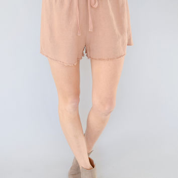 Beach Cruiser Linen Blush Shorts