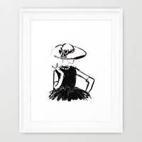 A Lady In Coco Framed Art Print by Sara Eshak | Society6
