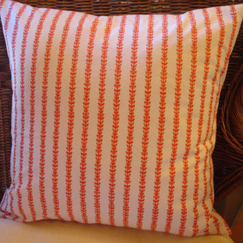 Orange Pillow Cover Orange Floral Pillow Cover by KaysGeneralStore