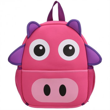 Toddler Kids Cute Cartoon Animal Shaped Backpack Pre School Bag