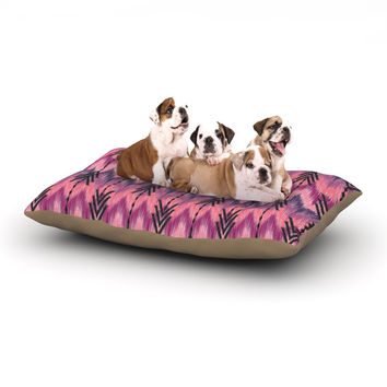 "Amanda Lane ""Indigo Orchid Chevron Arrows"" Pink Purple Dog Bed"