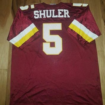 CREYONDB Vintage Heath Shuler #5 Washington Redskins NFL Logo 7 Jersey Adult 2XL 54-56