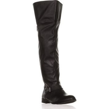 B35 Daphne Wide Calf Over-the-Knee Boots, Black, 8 US