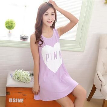 2016 Women Nightgown, Short-sleeved Dress Lovely Cartoon Printed Sleep Dress