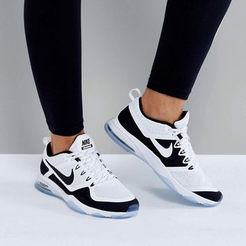 Nike Training Air Zoom Fitness Trainers In Black And White at asos.com