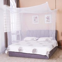 Moustiquaire 1pc Canopy White Four Corner Post Student Canopy Bed Mosquito Net netting Queen King Twin size