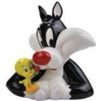 "Sylvester and Tweety Bird ""Best Friends"" Ceramic Savings Bank"