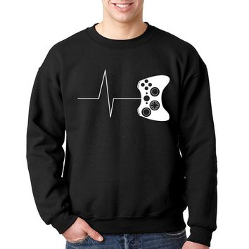 men harajuku clothes 2018 tracksuits Heartbeat of a gamer hoodies funny gaming hoodies video game sweatshirts for men size S-2XL
