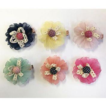 Ruffles & Lace Hair Clips by Little Pink