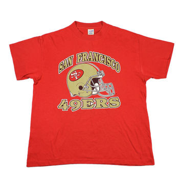 Vintage 80s San Francisco 49ers NFL Shirt Made in USA Mens Size Large (42-44)
