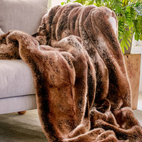 Faux Puma Fur Throw Blanket | Urban Outfitters