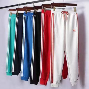THE NEW ADIDAS PRINT LONG PANTS SPORTS TROUSERS STRIPE FOR SIX COLOR H-A-XYCL H-XYCL0
