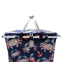 Insulated Picnic Basket Crab